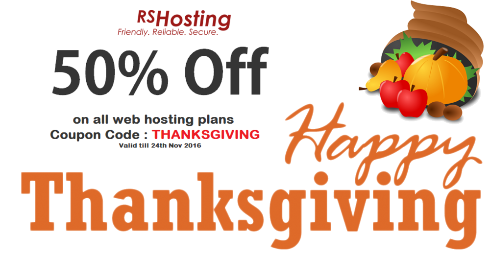 ThanksGiving 2016 Hosting Discount