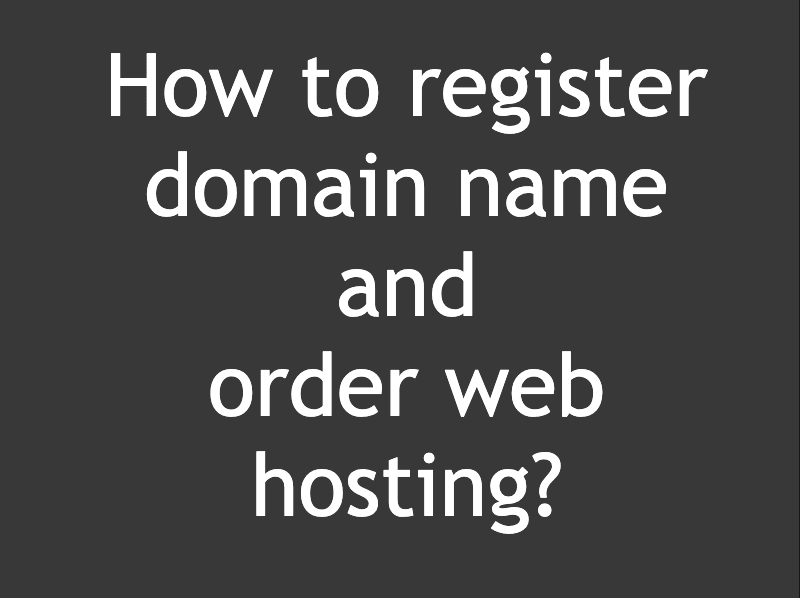 How to register domain name?