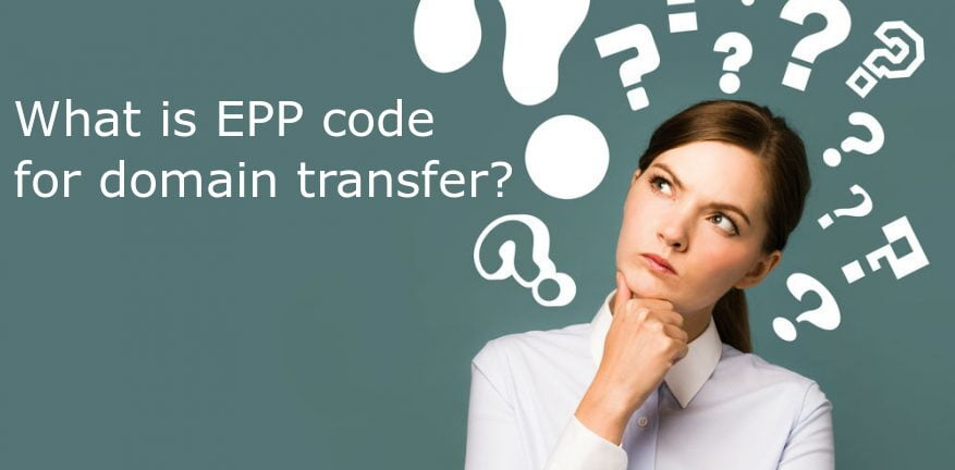 What is Epp Code for domain transfer?