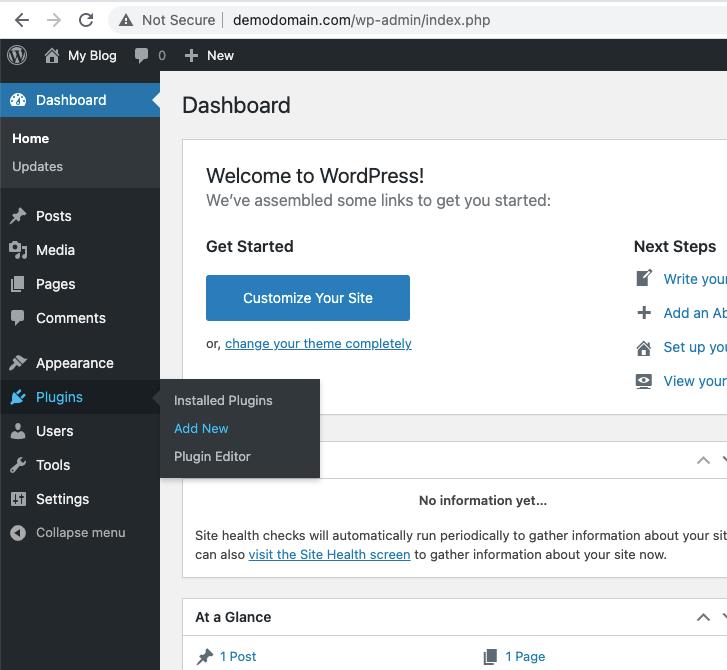 Install WordPress with LiteSpeed Cache