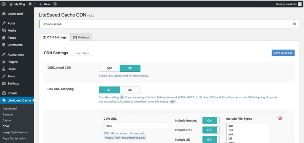 LiteSpeed enable CDN